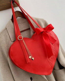 Sweet Lolita Heart Shaped Bows Lolita Cross Body Bag