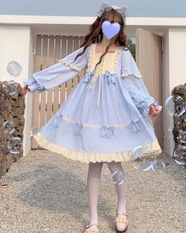 Sweet OP Bows Long Sleeve Lolita One Piece Dresses