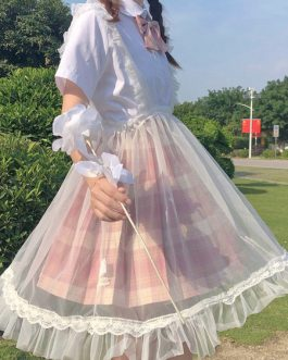 Sweet SK Lolita Sheer Suspender Skirts