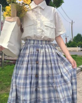 Sweet SK Plaid Swing Lolita Skirts