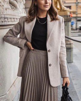 Vintage Elegant Streetwear Long Pleated Skirts