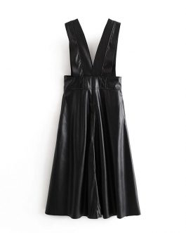 Vintage Tank Pleated Strapless Party Dress