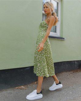 Zipper Sleeveless High Waist Bohemian Long Dresses