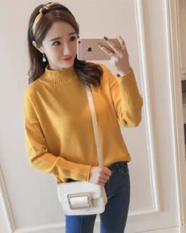 Casual Fashion Loose Pullovers Full Knitted Sweater