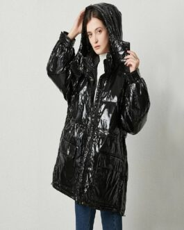 Duck Down Coat Warm Snow Parkers Medium Long Oversize Jacket