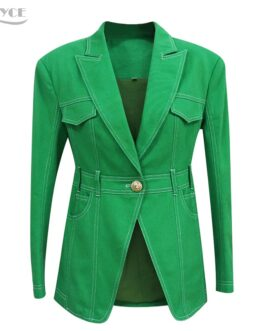 Elegant Deep V Pocket Single Button Long Sleeve Slim Trench Coats