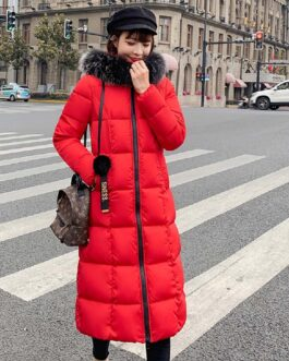 Fashion Solid Hooded Parkas Slim Cotton Padded Coat