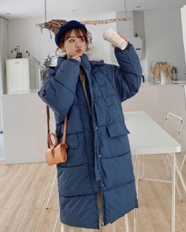Hooded Parkas Thickness Padded Jacket Large Fur Collar