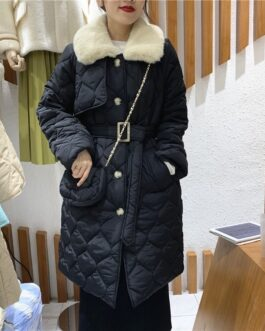 Lace Up with Bag Quilted High-Quality Puffer Jackets