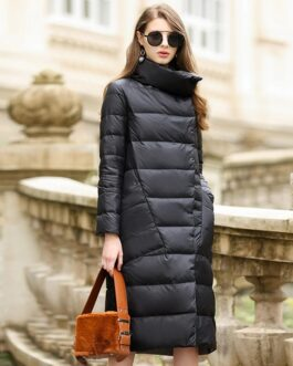 Long Casual Light ultra thin Warm Down puffer jacket