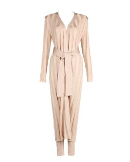 Long Sleeve Evening Party Coat&Pants Two Pieces Set