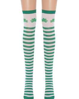 Saloon Clover Knee High Socks Cosplay  Stockings