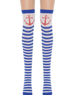 Saloon Stockings Sailor Knee High Socks Cosplay Costume