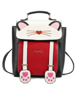 Sweet Lolita Cat PU Leather Backpack Bag