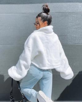 Turn-down Collar Long Sleeve Coat