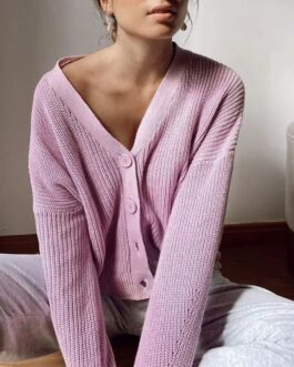V Neck Basic Casual Sweaters