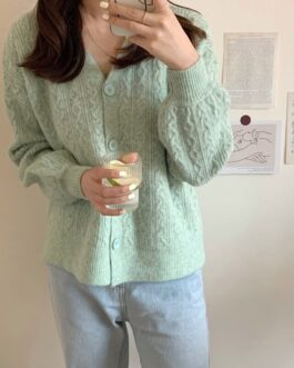 V-Neck Buttons Cardigans Casual Knitwears Sweaters