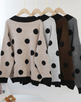 Batwing Long Sleeve Casual Pullover Top Knitwear Sweater