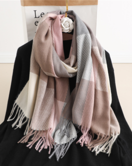 Fashion Luxury plaid warm scarf