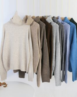 Knitted Turtleneck Cashmere Sweater