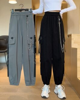 Korean style high waist casual pants