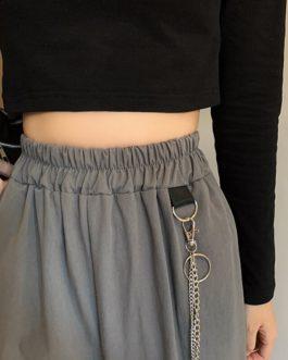 Korean style high waist casual pants