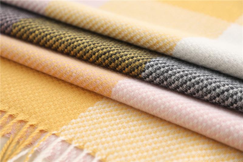 Luxury scarves tassel wrap shawl3