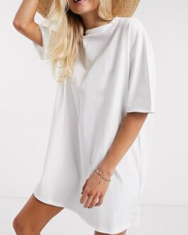 O Neck Oversize Mini Dress