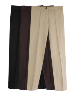 Office Pleated Pencil Pants With Pockets
