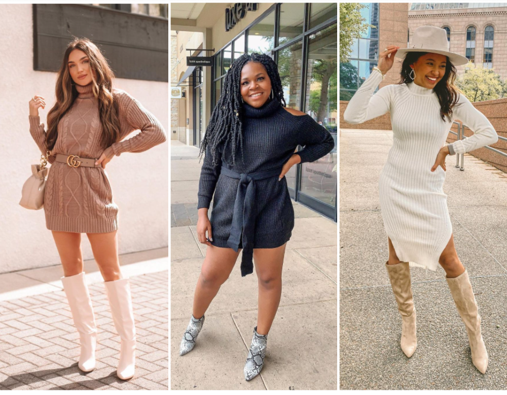 Most Cute And Cozy Sweater Dresses