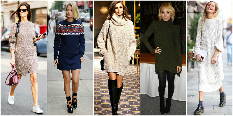 The Sweater Dresses You Need For Cold Days