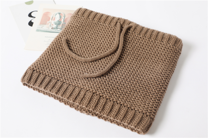 Adjustable Warm Knitted Collar Ring Neck Scarf11