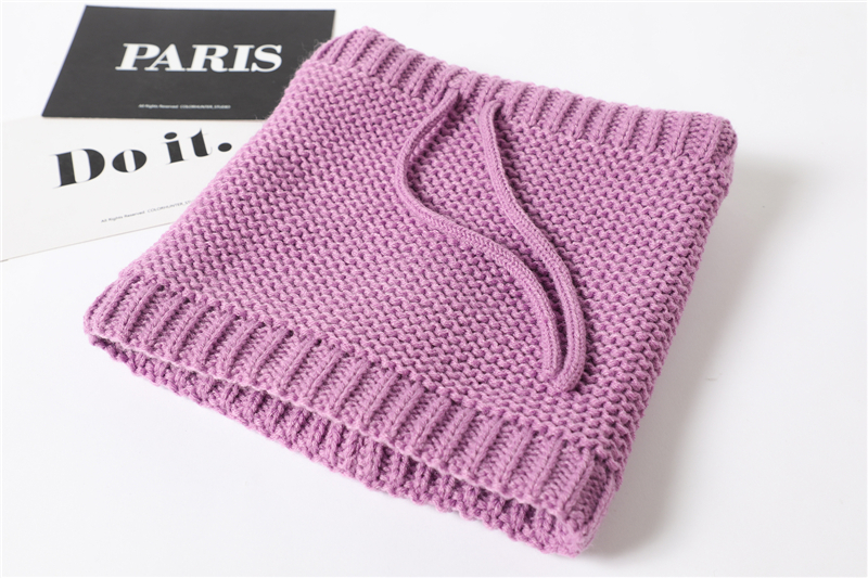 Adjustable Warm Knitted Collar Ring Neck Scarf8