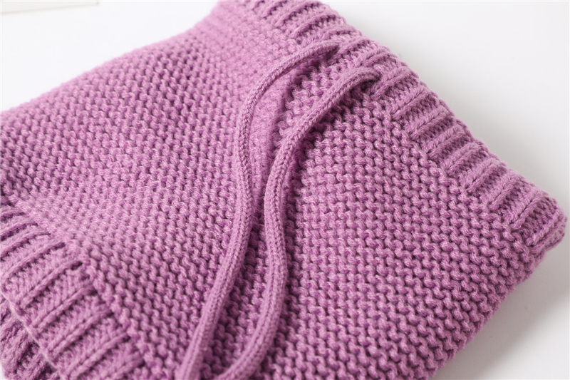 Adjustable Warm Knitted Collar Ring Neck Scarf9
