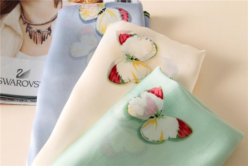 Butterfly print silk beach stoles1