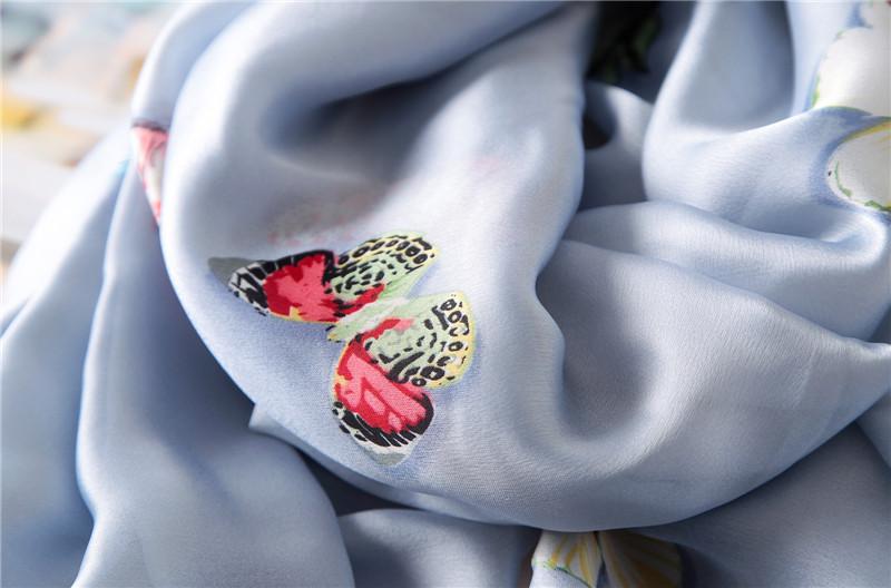 Butterfly print silk beach stoles5