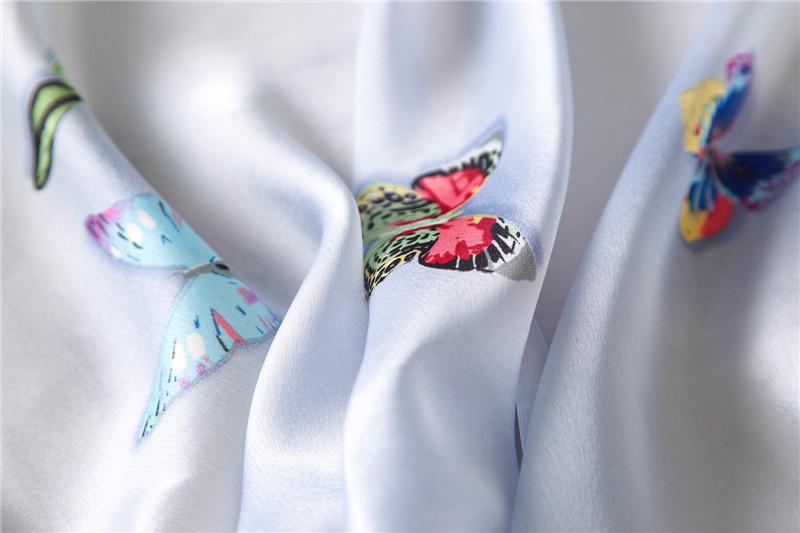 Butterfly print silk beach stoles6