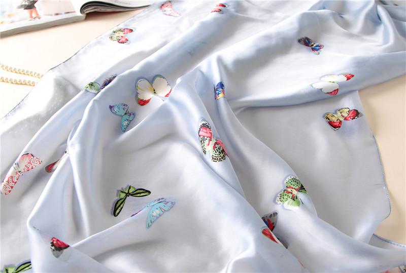 Butterfly print silk beach stoles7