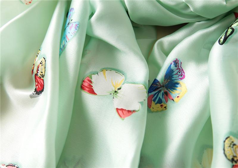 Butterfly print silk beach stoles9