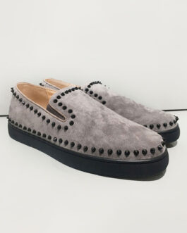 Casual Cowhide Round Toe Slip On Cowhide Upper Shoes