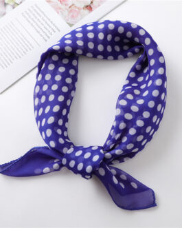 Chiffon Dot Print Square Neck Scarf