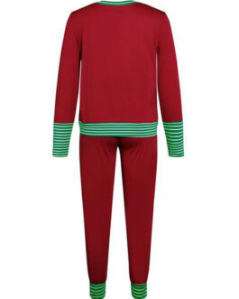 Christmas Loungewear 2-Piece Set Long Sleeve Polyester Home Wear