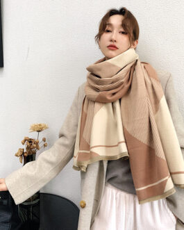 Design Geometric Thick Warm Shawls