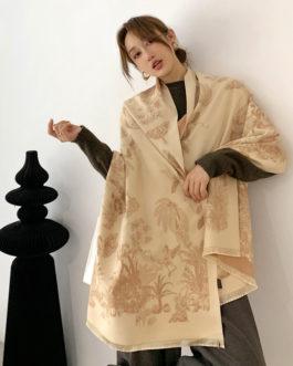 Design Print Cashmere Thick Warm Stole