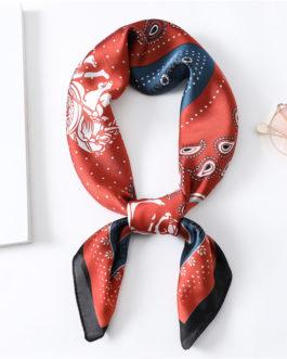 Design Print Silk Square Neck Scarves