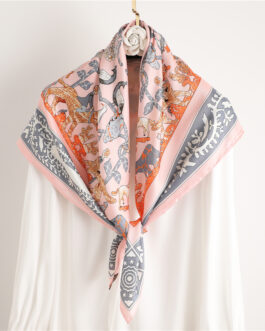 Design Silk Animal Print Scarf