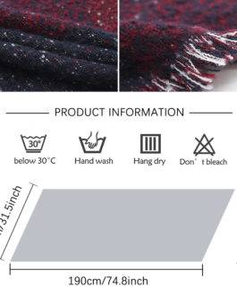 Design Thick Cashmere Warm Neck Scarves