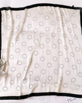 Dot Print Square Neck Scarf