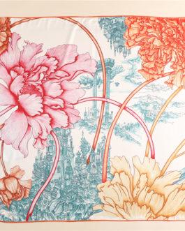 Elegant Floral Print Neck Scarves