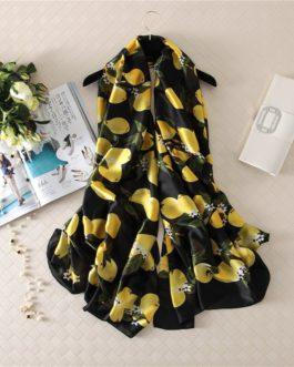 Elegant soft large size printed scarf